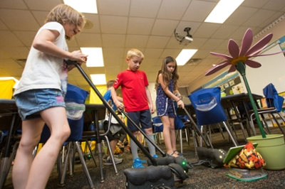 Elementary students use technology 'bugs' to learn in classroom
