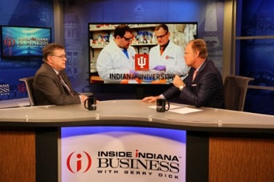 Fred Cate talking with Gerry Dick on 'Inside Indiana Business'
