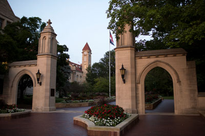 A view of the Sample Gates at IU Bloomington