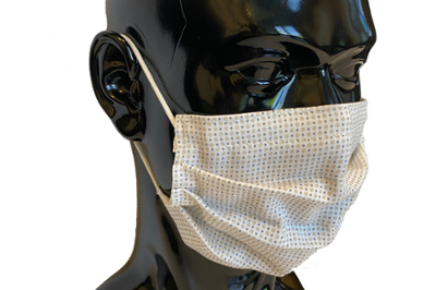 Mannequin head wears a mask made of the electroceutical fabric