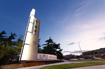 The gateway to the IUPUI campus