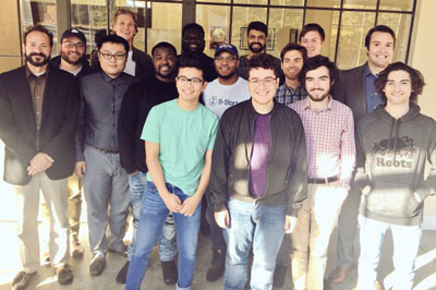 The B-Start cohort for 2017 stands in a group
