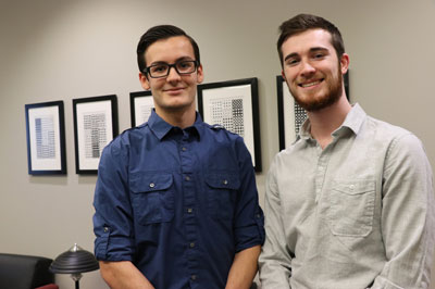 IUPUI students Brandon Boynton and Zachary Balda